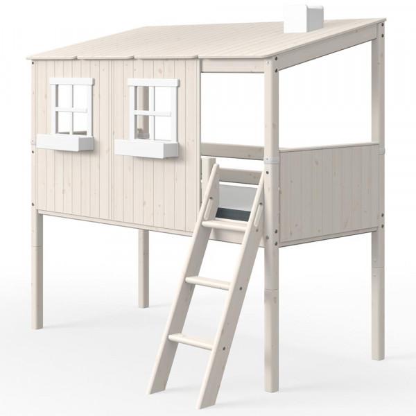 Flexa halbhohes Bett Haus weiss