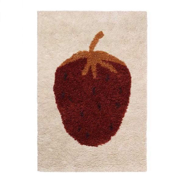 Ferm Living Wollteppich Fruiticana Erdbeere groß