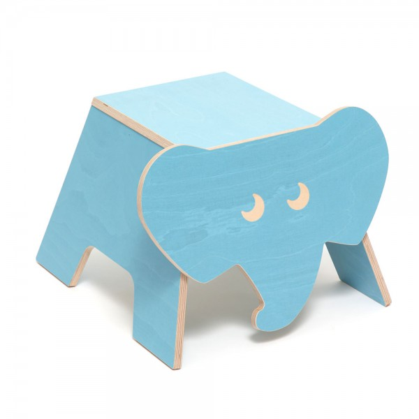 Julica Zookids Kinderhocker Elefant Eli blau