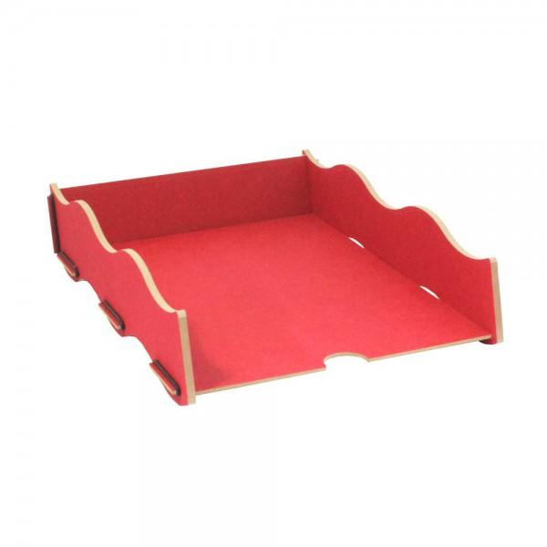 Schreibtisch Ablage Box rot Werkhau