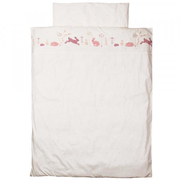 """Taftan Kinderbettwäsche """"Hello World"""" rosa beige 100 x 135"""