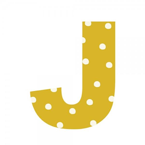 Lilipinso Sticker Buchstabe gepunktet J