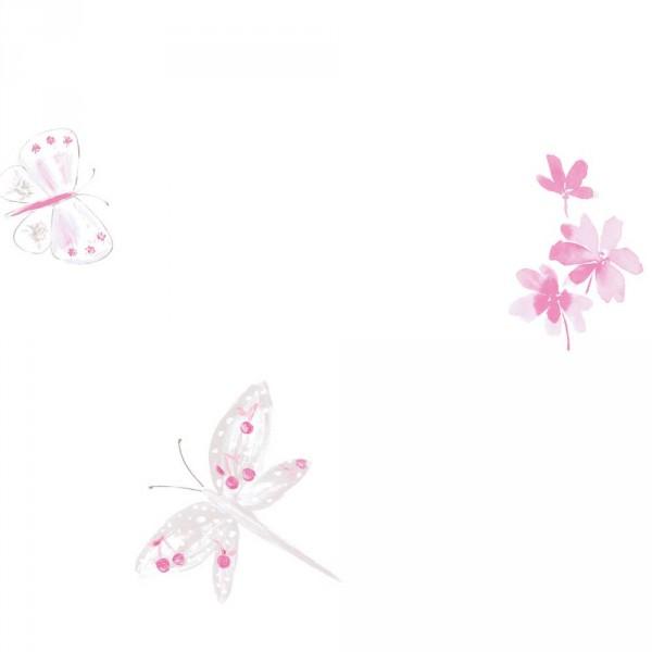 Caselio Ohlala Tapete Schmetterlinge & Libellen rosa pink grau