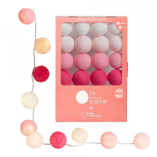 Cousin Paul Mini Lichterkette Louise LED weiss rosa