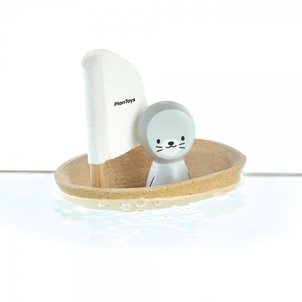 Plan Toys Badewannen-Boot natur Seehund