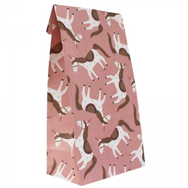 Ava & Yves Geschenk Papiertüten Zirkuspferde rosa