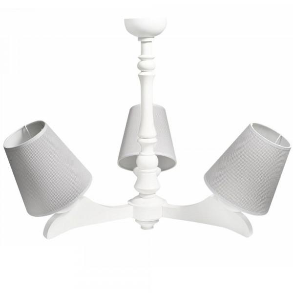 Caramella Deckenlampe 3 armig grau