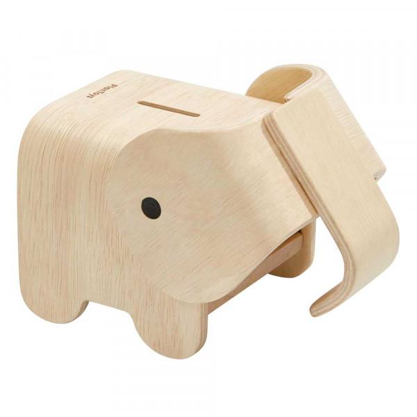 Plan Toys Spardose Elefant Holz natur