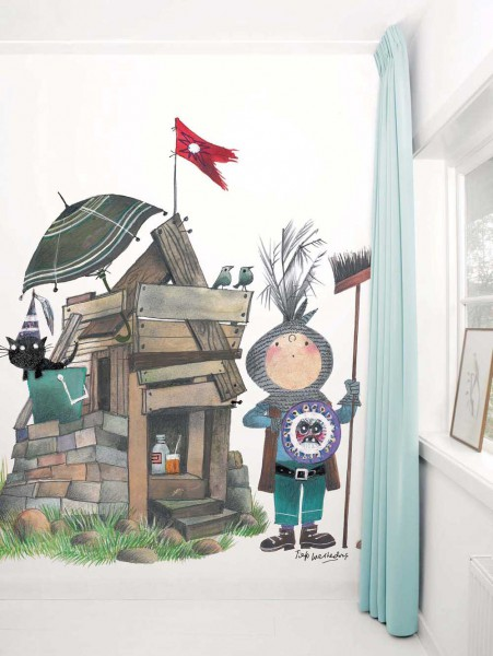 Kek Amsterdam Tapeten Wandbild kleiner Ritter