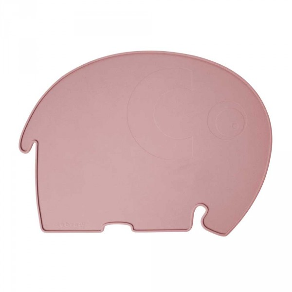 Sebra Kinder Tischset Silikon Elefant rosa