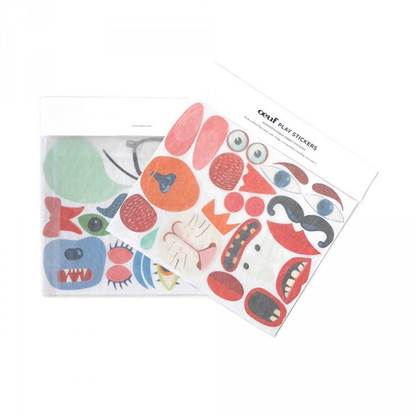 Oeuf Sticker für Kinderstuhl Hase und Bär