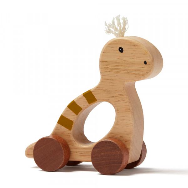 Kids Concept Baby Spielzeug Schiebefigur Dino Holz natur
