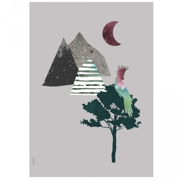 I Love My Type Poster Papagai & Berge