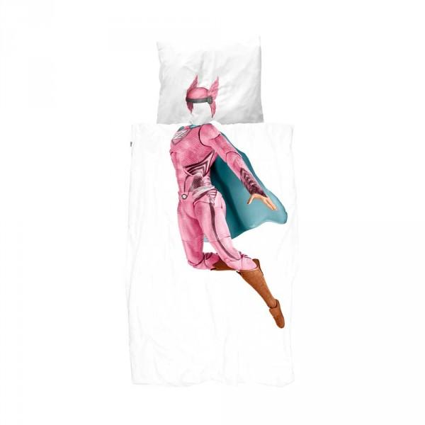 Snurk Bettwäsche Superheldin pink 135 x 200