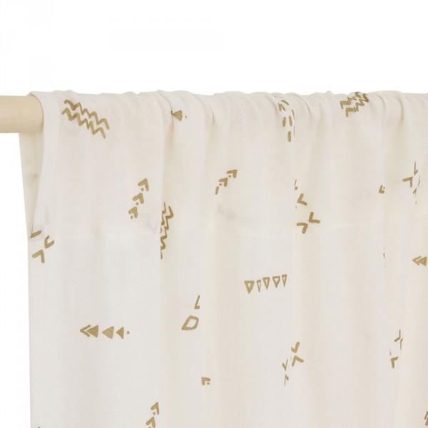Vorhang Leinen weiß