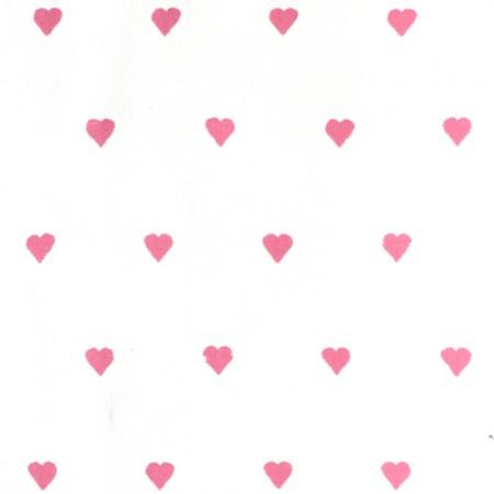Harlequin Stoff Herzen rosa