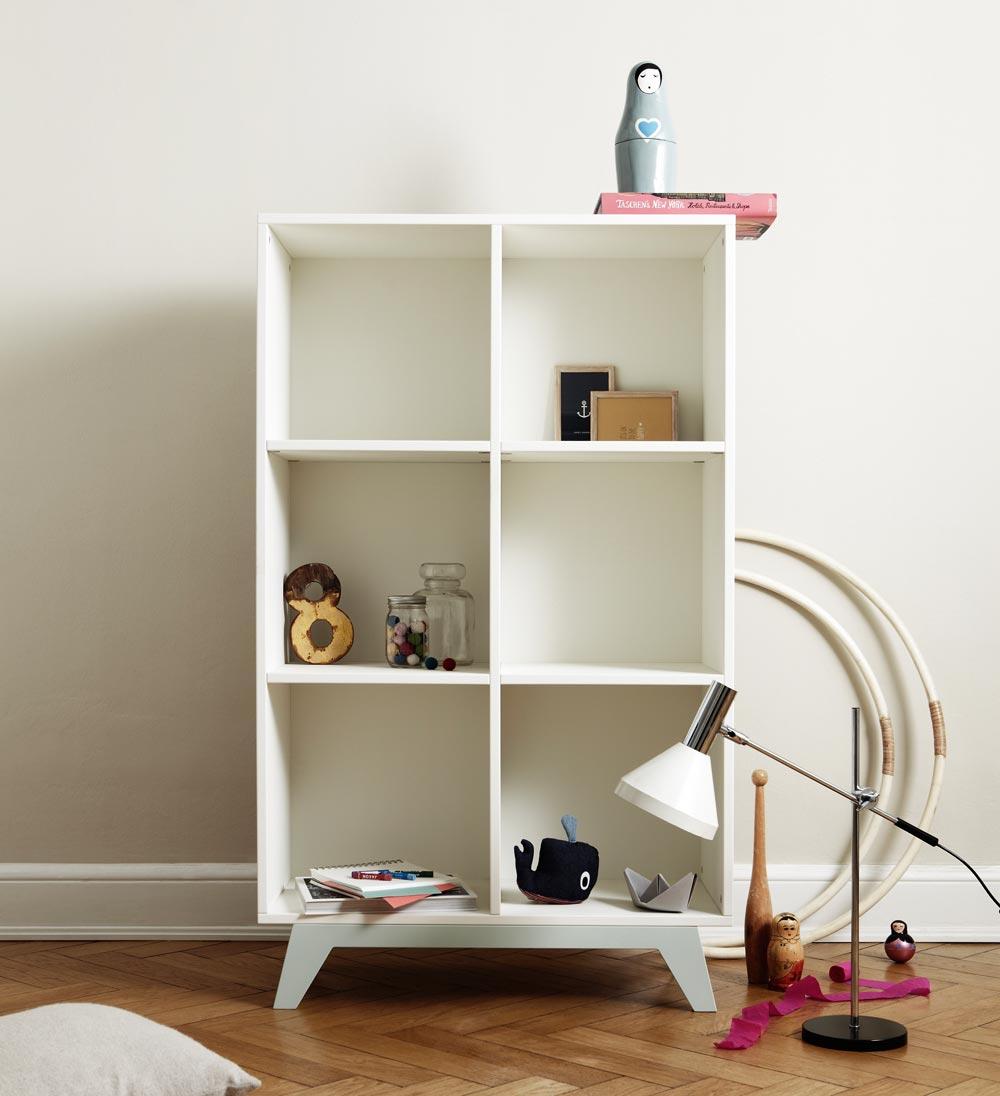mimm regalsystem box hoch mit t ren schublade grau bei kinder r ume. Black Bedroom Furniture Sets. Home Design Ideas