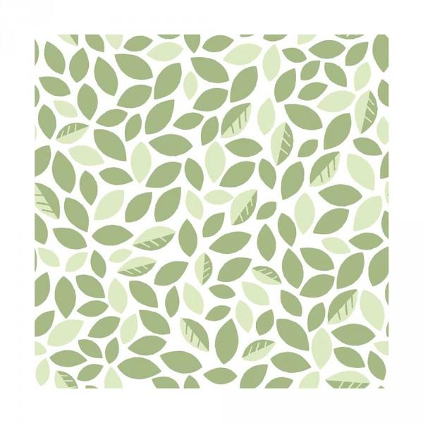 Lilipinso Vlies Tapete Blättergetümmel grün