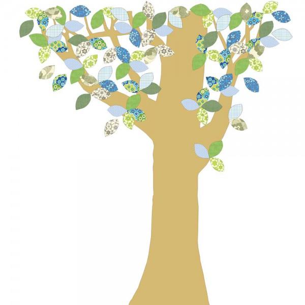 Inke Tapetenbaum Goldstamm grün/blau