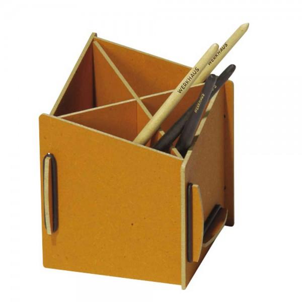 Werkhaus Stiftebox diagonal gelb