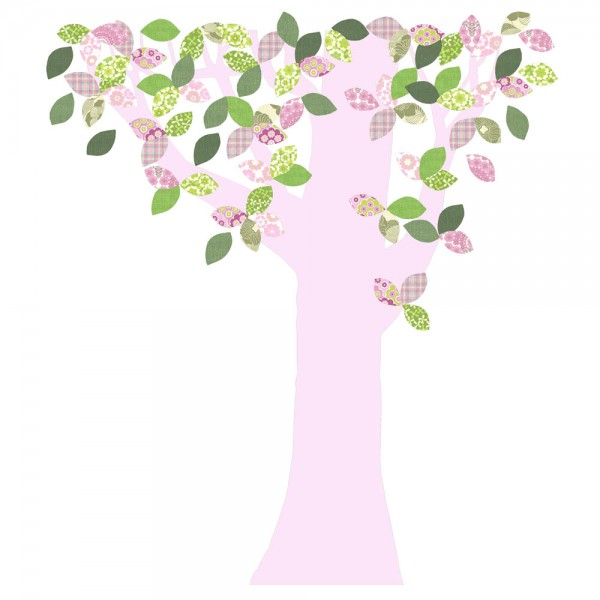 Inke Tapetenbaum Stamm rosa Blätter grün rosa