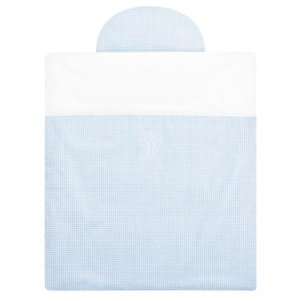 Caramella Bettwäsche für Moseskörbchen hellblau