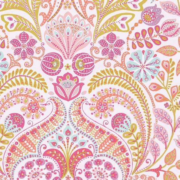 Eijffinger Tout Petit Kindertapete Blumengarten lila pink orange