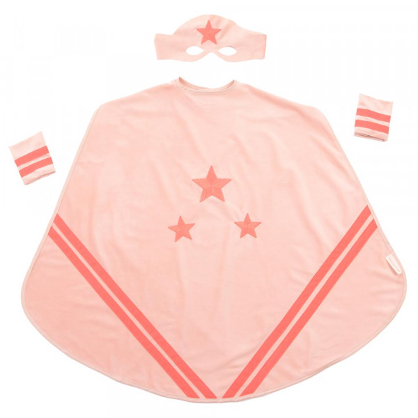 Nobodinoz Kinder Superhelden Kostüm rosa