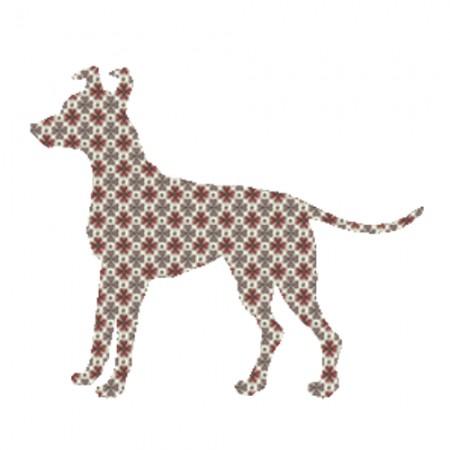 Inke Tapetentier Hund Raster braun