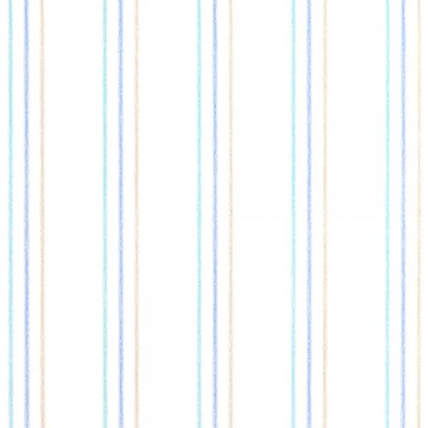 Casadeco Arc En Ciel Streifentapete Aquarell türkis grau blau