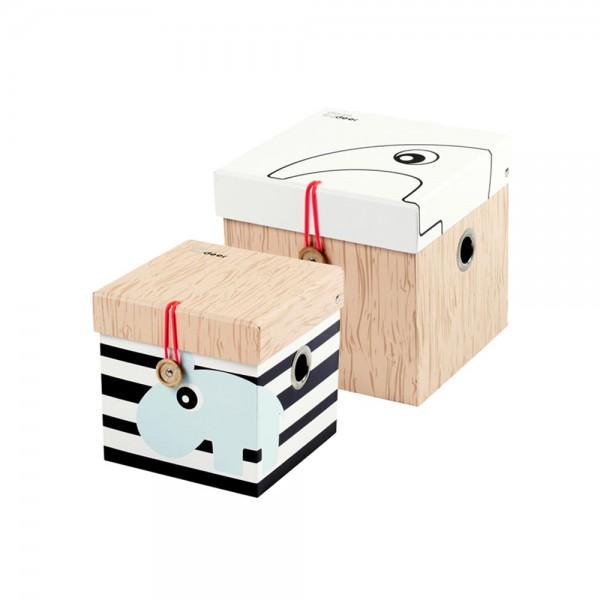Done By Deer 2 Er Set Aufbewahrungsboxen Klein Mit Deckel