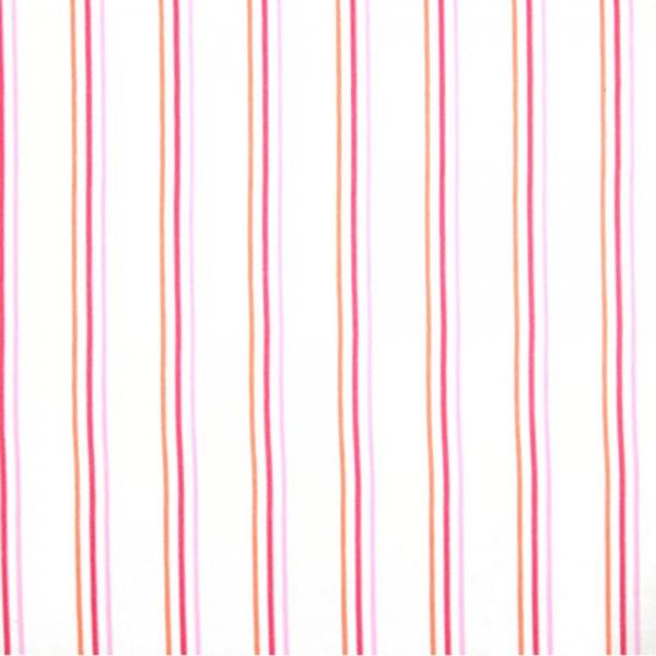 Casadeco Arc En Ciel Stoff Streifen Aquarell orange pink rosa