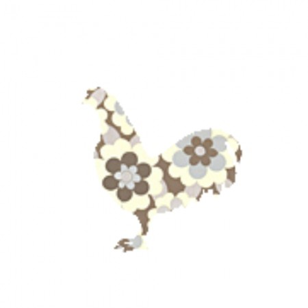 Inke Tapetentier Hahn Blumen braun