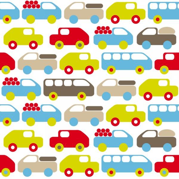 Lavmi Tapete Autos lime blau braun