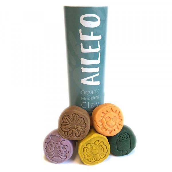 Ailefo Bio Kinderknete 5 er Set Forest Farben klein