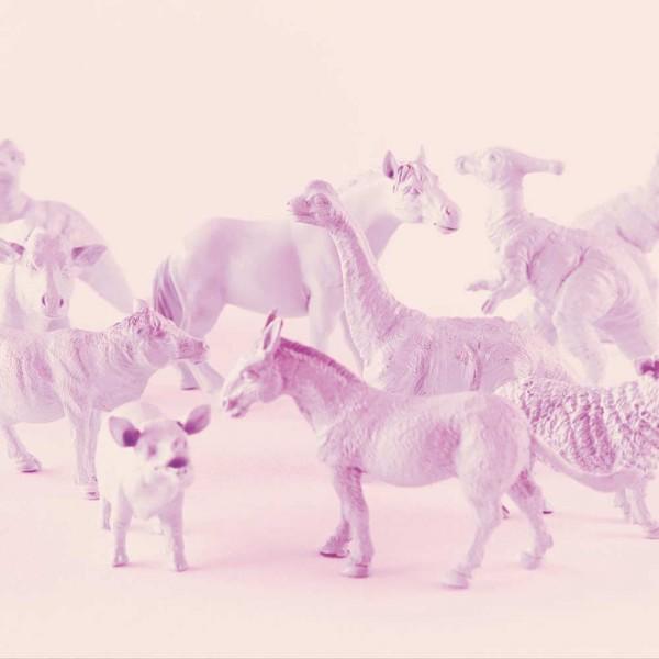 Eijffinger Tout Petit Tapeten Wandbild Tiere vom Bauernhof & Freunde lila