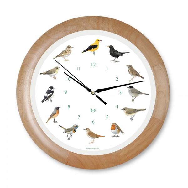 Kookoo Kinder Wanduhr Singvögel Holz