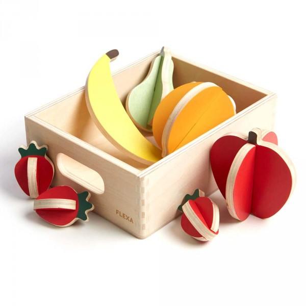 Flexa Kinder Spiellebensmittel Holz Obst