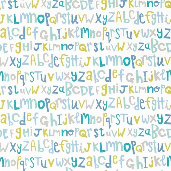 Scion Guess Who Tapete Buchstaben mint lime blau