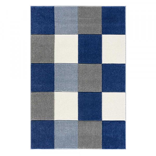 Livone Kinderteppich Patchwork blau