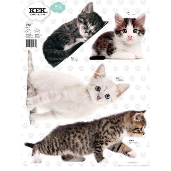 Kek Amsterdam Wandsticker Set Katzen 1