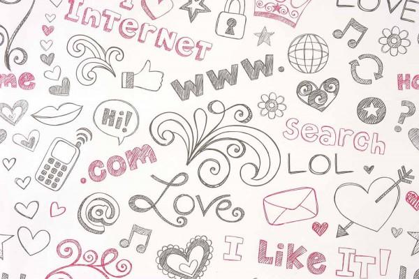 Caselio Girls only Tapete Internet schwarz pink