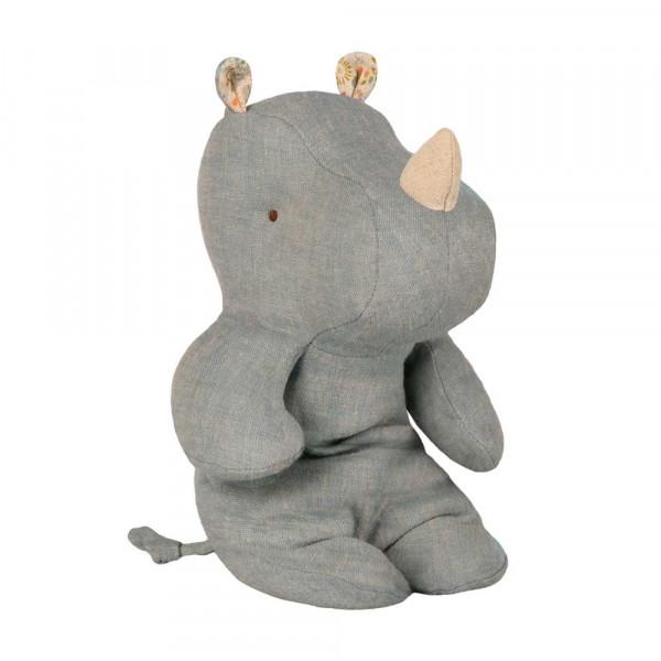 Maileg Stofftier Rhino graublau klein