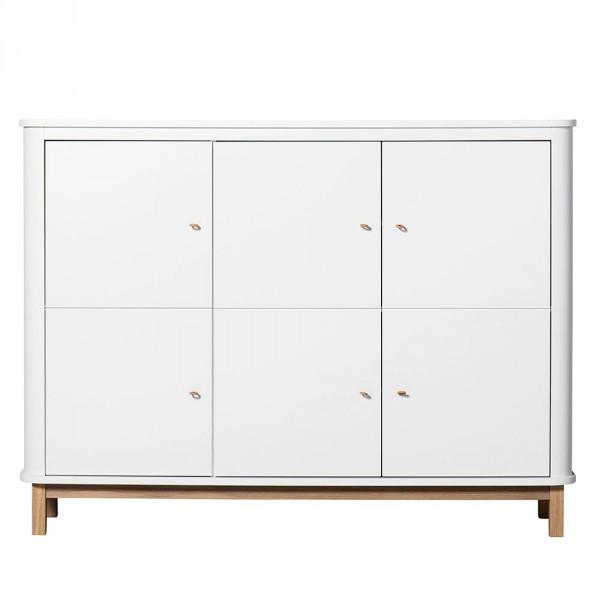Oliver Furniture Wood Multi Schrank 3 türig weiss/Eiche