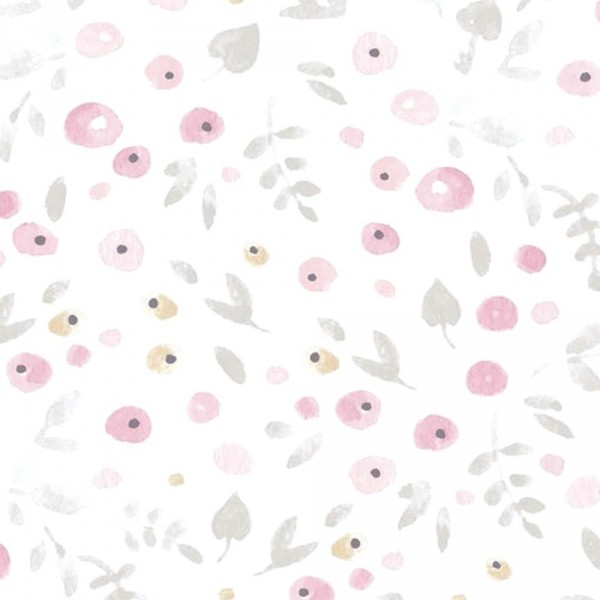 Casadeco My Little World Tapete Streublümchen rosa grau braun