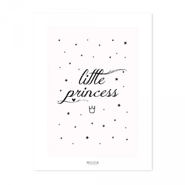 Lilipinso Poster Spruch Little Princess rosa schwarz