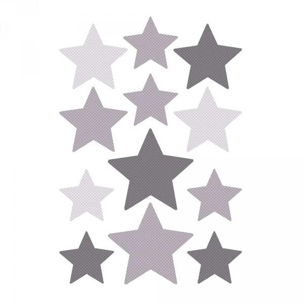Buokids Wandsticker Sterne grau