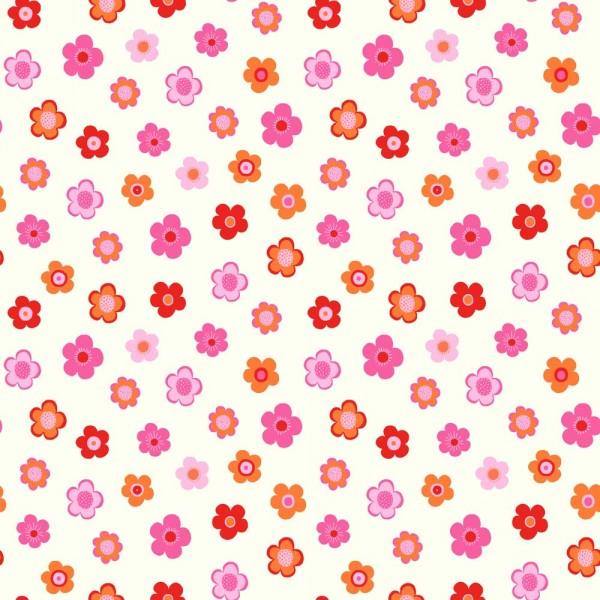 Rasch Textil Everybody Bonjour Tapete Blumen rosa pink rot