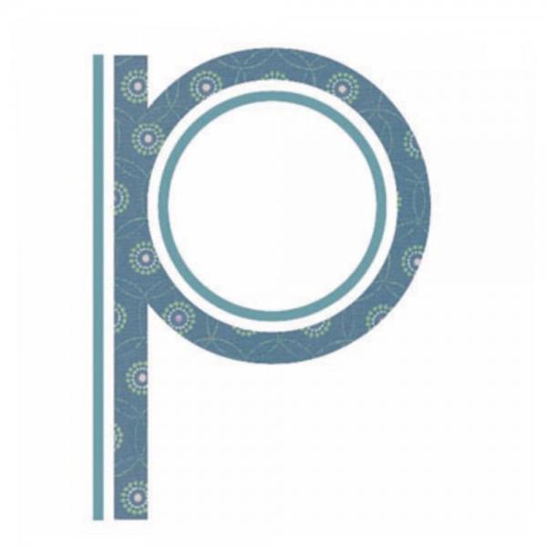 Lilipinso Sticker blau Buchstabe p