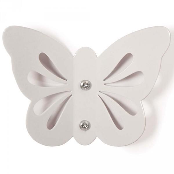Roommate Kindergarderobe Schmetterling weiss